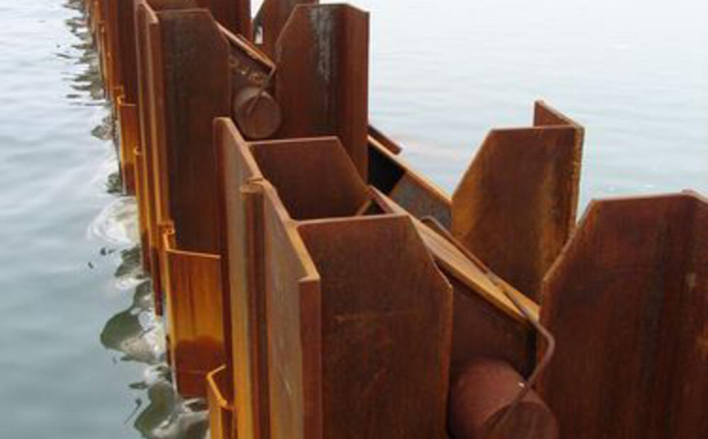 A Combined Wall Of Arcelormittal Sheet Piles As Quay Walls