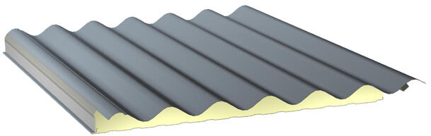 Insulated steel sandwich panels for facades and roofs